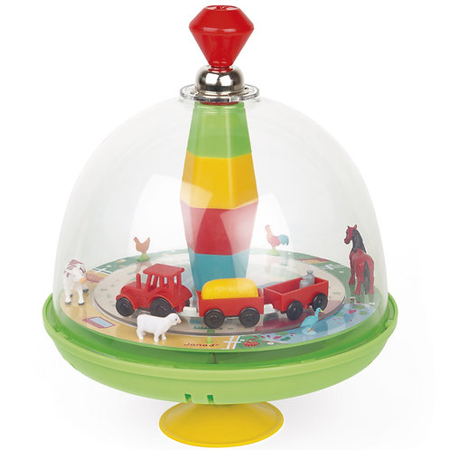 Janod Musical Spinning Top - Farm by ALEX Brands