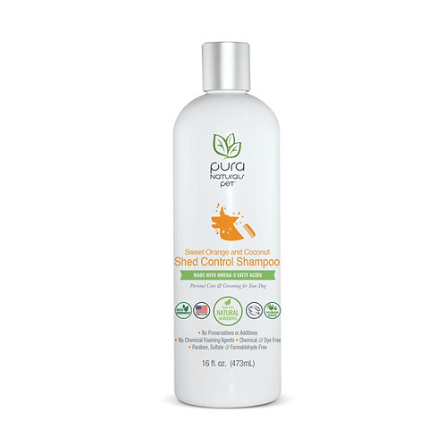 Sweet Orange and Coconut Shed Control Shampoo by Pura Naturals Pet