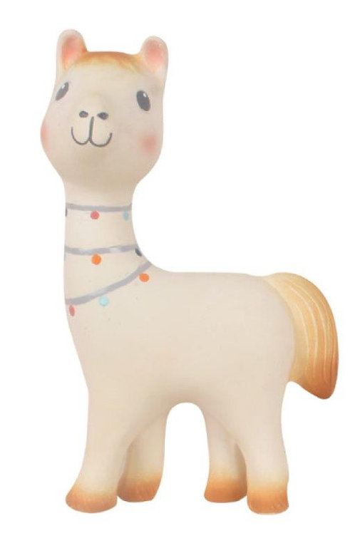 Lilith the Llama Natural Rubber Teether, Rattle & Bath Toy