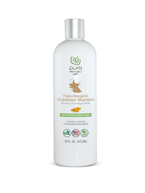 Hypo-Allergenic Shampoo - USDA Certified Organic by Pura Naturals Pet