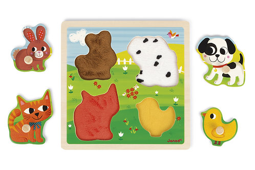 Janod Tactile Puzzle My First Animals by ALEX Brands