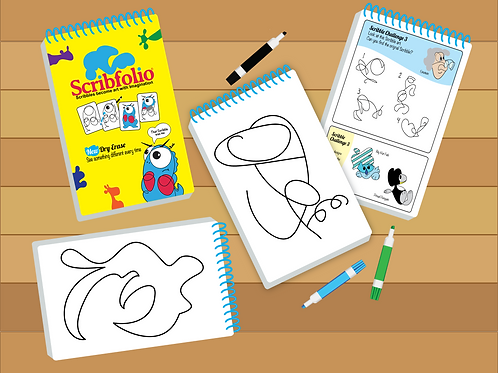 Scribfolio®, Scribbles become art with Imagination