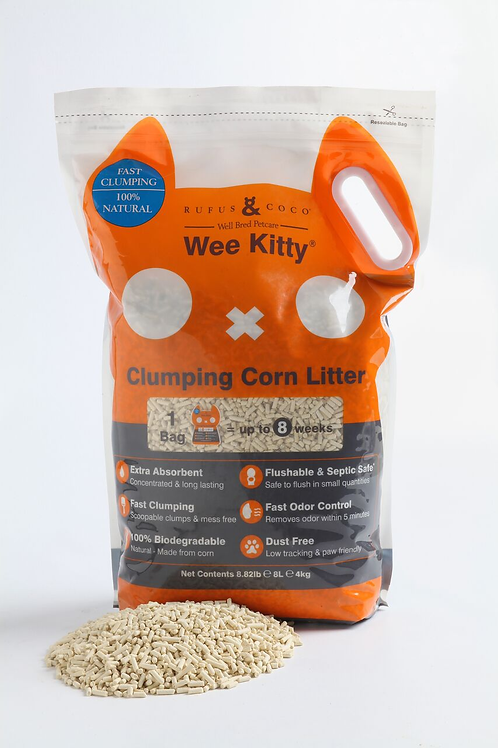 Wee Kitty Clumping Corn Litter by Rufus & Coco