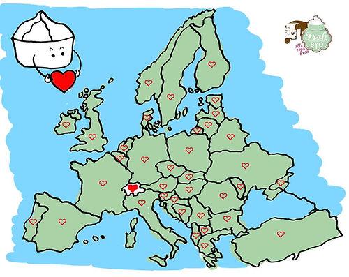 Landkarte Europa froh biyo