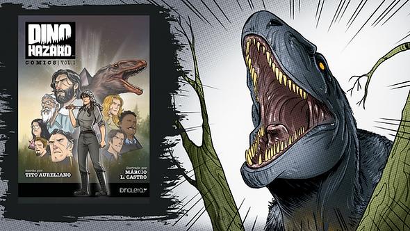 Pré-venda: Dino Hazard Comics Vol.1 - versão impressa