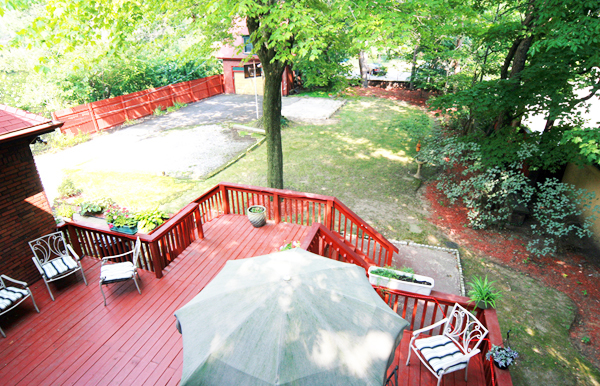 Rear Aerial View Porch