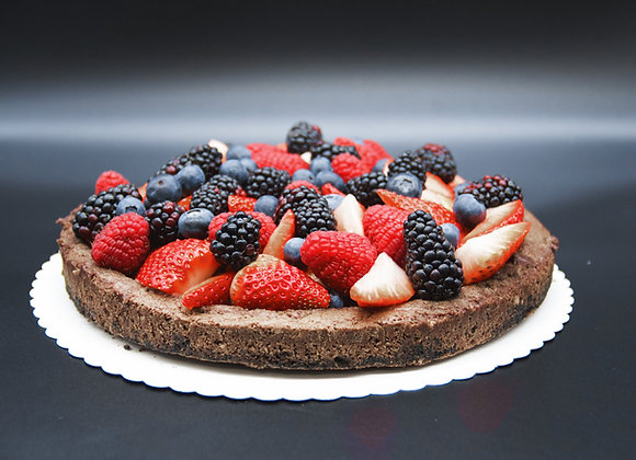 Čokoládový bezlepkový dort s ovocem