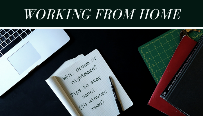 Working from home: Dream or Nightmare? 10 Tips to stay sane! (10-15minutes read)