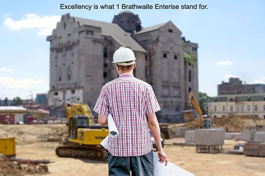 Contractor managing a job site.