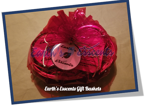 Earth's Esscents All Natural Products Gift Basket Packaging