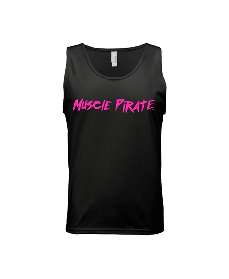 "MP's ""BLACK FLAG"" Tank - Black & Hot Pink"