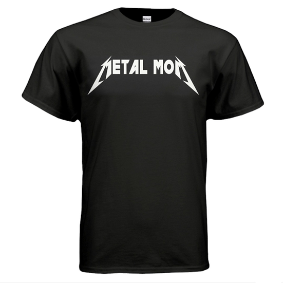 METAL MOM Tee - Black & White