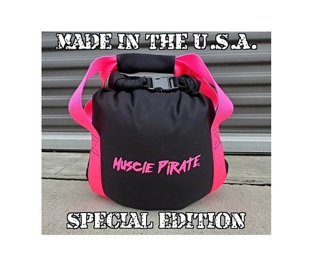 Special Edition KETTLEBELL Pink & Black by Muscle Pirate