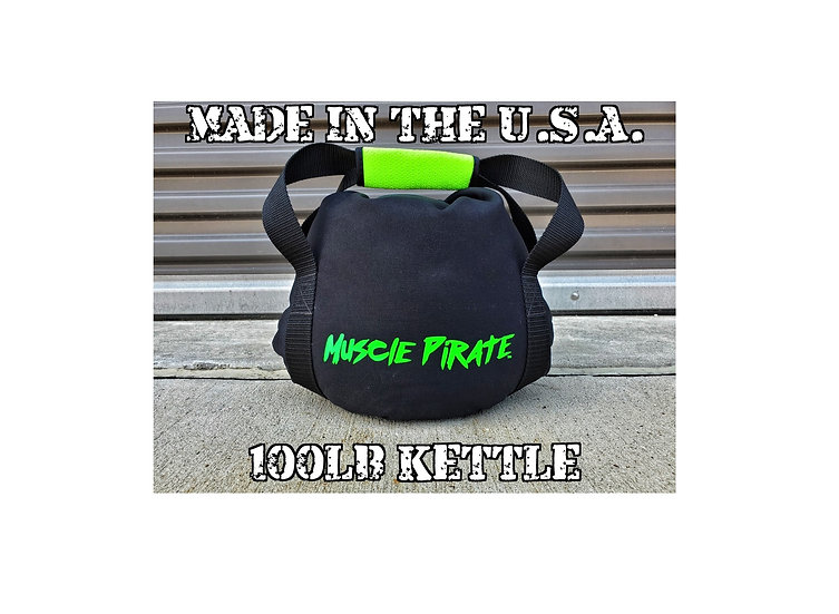 100lb KETTLEBELL by Muscle Pirate