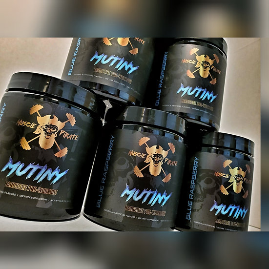 5 Tubs of MUTINY Pre-Workout
