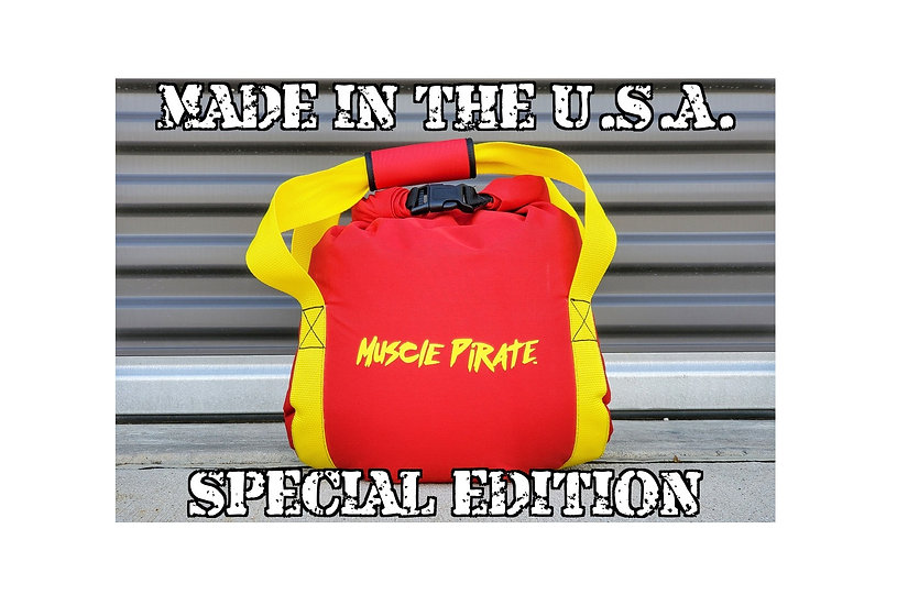 Special Edition KETTLEBELL Red & Yellow by Muscle Pirate