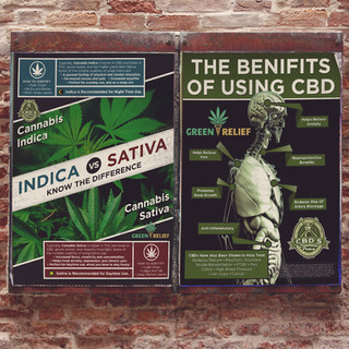 Cannabis and CBD posters