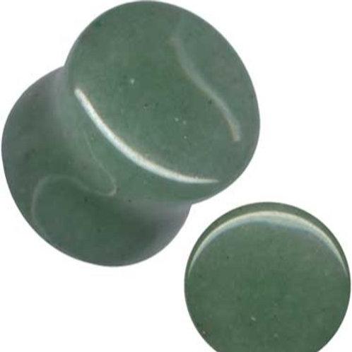 Plug, Grøn Agat, ca.13 mm.