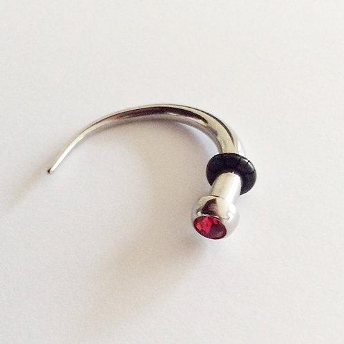 Spiral/Hanger, Kirugisk stål  4 mm. ( ny o ring medfølger)