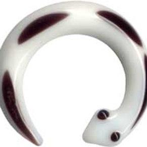 Hanger/spiral glas ca.4,8 mm. Hvid eller sort