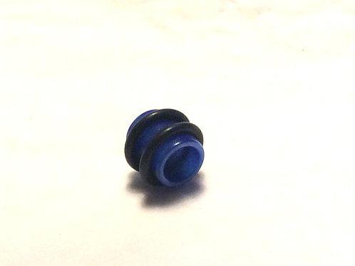 Tunnel Glas, Blå ca.9,5 mm.
