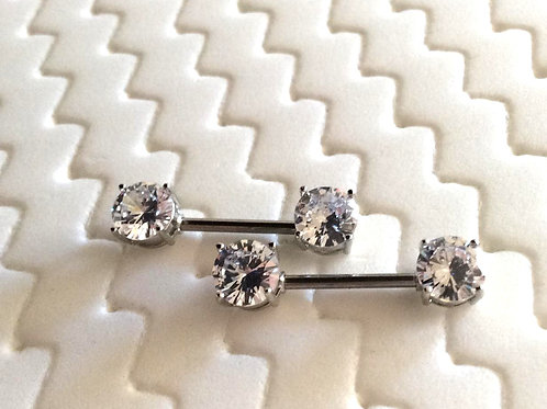 Par, Bryst smykke med  krystal ender