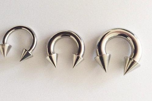 Kirugisk stål Circular barbell 3, 5 og 6 mm. Tykkelse. Internal thred
