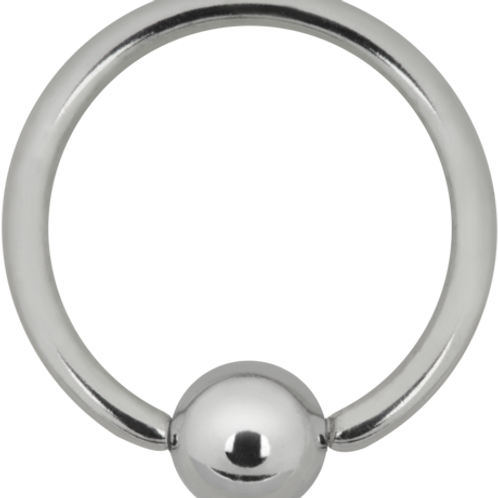 Sterling sølv ring. 1 x 8 mm