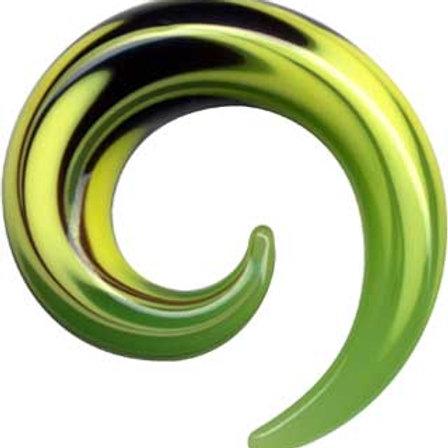 Hanger/spiral glas ca. 7,2 mm. og ca. 8 mm
