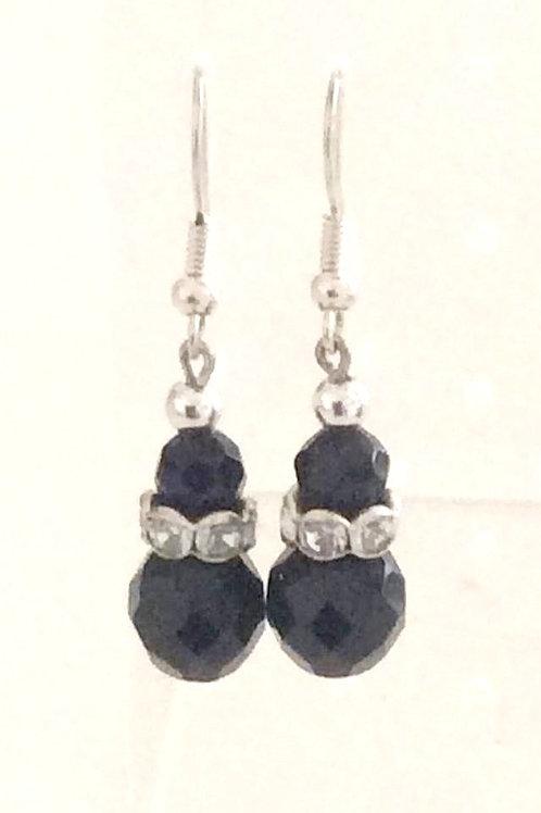 Ørehængere med Glas Fazet perler, Kirugisk stål ørebøjler