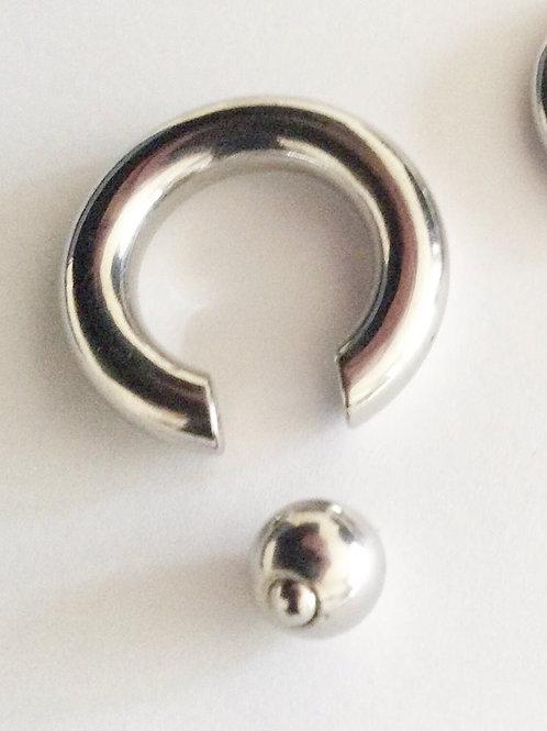 Easy in Ball Ring, Kirugisk stål, Størrelser fra 3 - 8 mm.