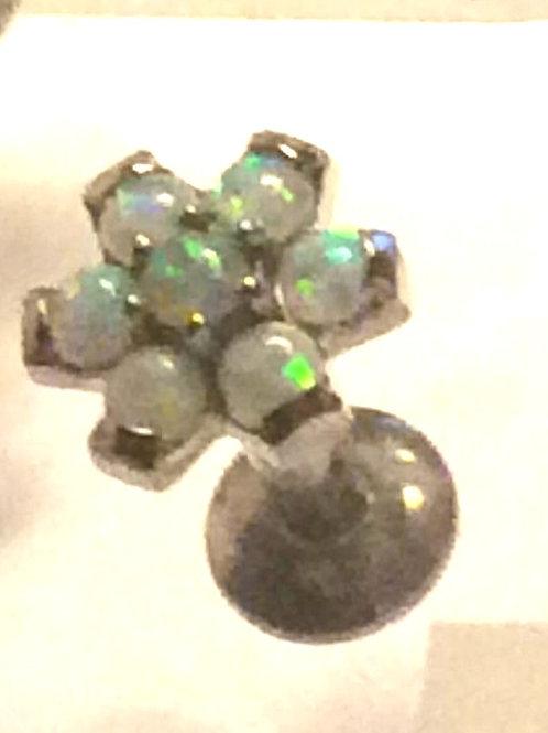 Internal Titanium labret med Opal top