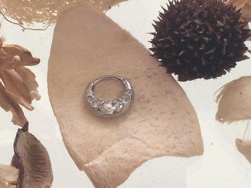 Septum Clicker, 1,2 mm. Kirugisk stål,  krystaller