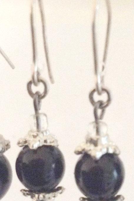Ørehængere , glas Fazet perler