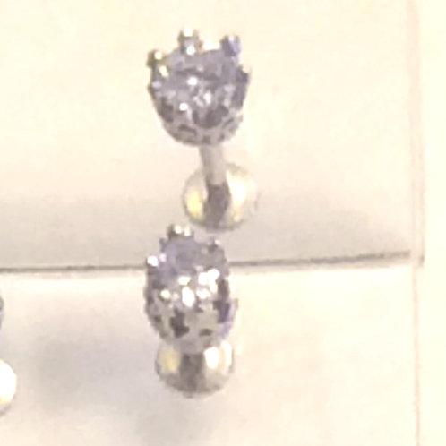 Internal Labret 1,2 Kirugisk stål, krystal