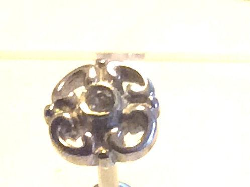 barbell Kirugisk stål, Blomster top i Sterling sølv