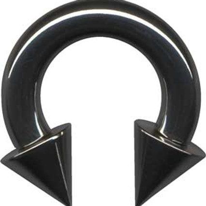 Black steel Circular barbell 3 mm