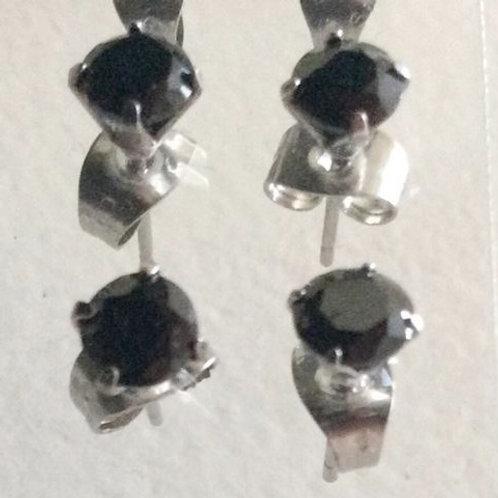 Øresticks par, Kirugisk stål,  5 mm.