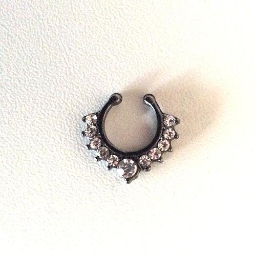 Fake Septum smykke, blacksteel