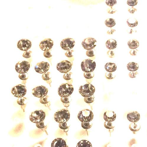 Øresticks par, Kirugisk stål,  5 og 6 mm.