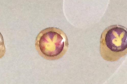 Guldbelagt kirugisk stål barbell med bunny