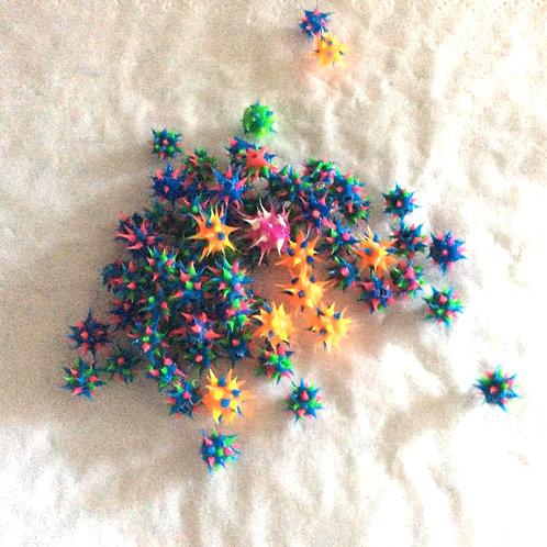 Blandet silicone kugler, 1,2 og 1,6 mm gevind Sælges samlet