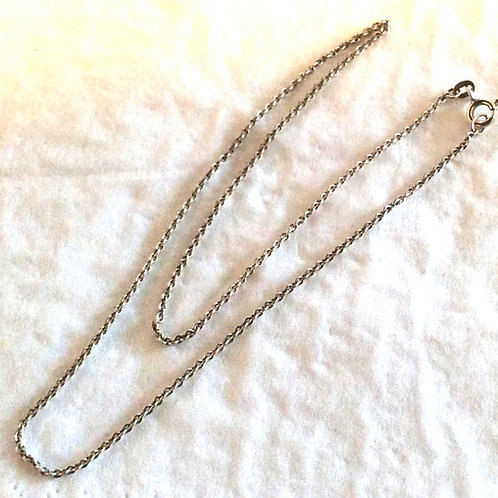 Sterling sølv Halskæde 35 cm.