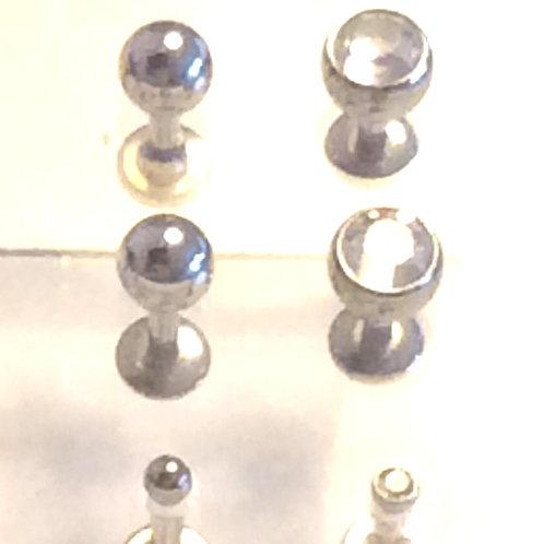 Titanium Internal labret med krystal