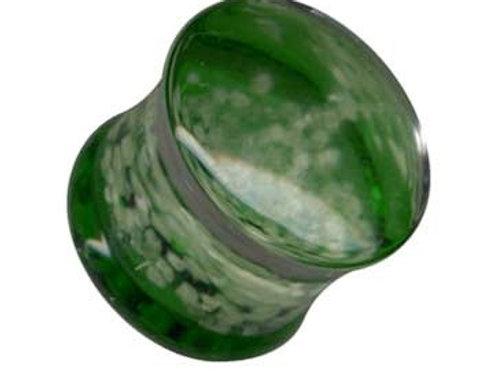 Plug, Glas, Grøn ca. 12 mm.
