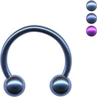 Circular barbell i Anodiseret Titanium, 1,6 mm.