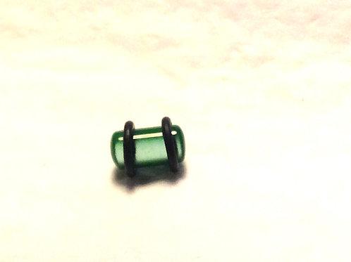 Plug, Glas, Grøn ca.7,9 mm.