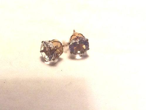 Øresticks par, Guldbelagt 8 mm.