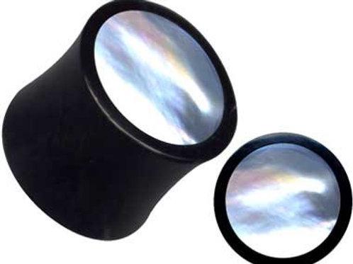 Horn/ Perlemor plug 12 mm.sælges i par