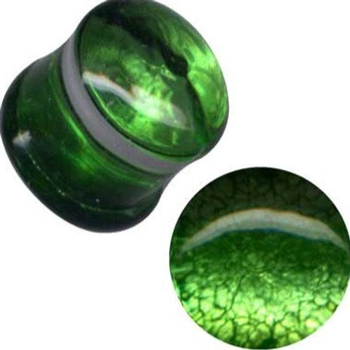 Plug, Glas, Grøn ca.12 mm.